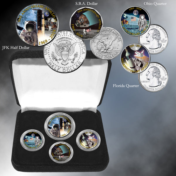 Apollo 11 50th Anniversary Moon Landing Set Franklin