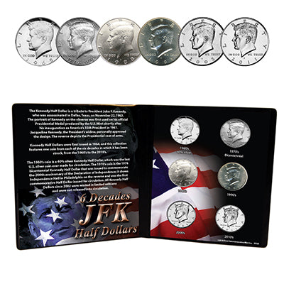 Six Decades of JFK Half Dollars