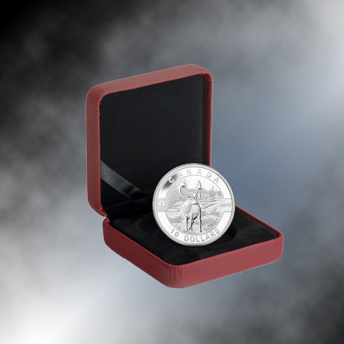 2013 Canada 1/2 oz Silver $10 The Caribou