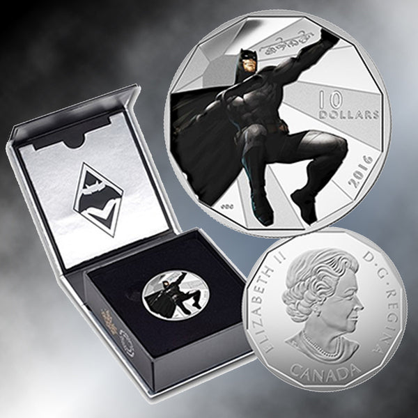 2016 $10 Silver Batman V. Superman: Dawn Of Justice (TM) Batman Coin
