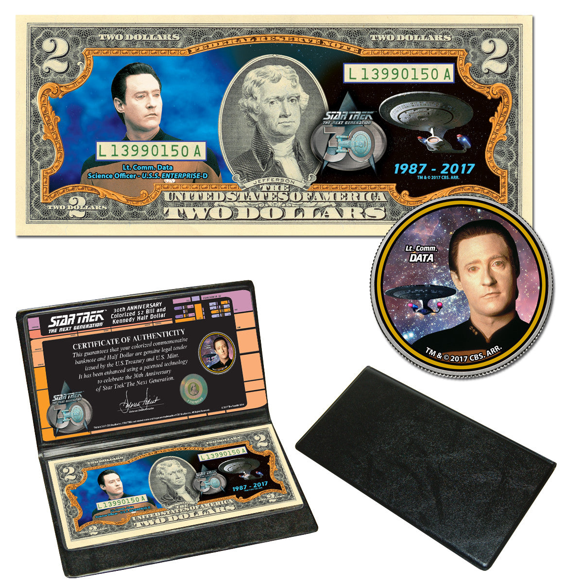 Star Trek: The Next Generation Coin & Currency Collection - Data