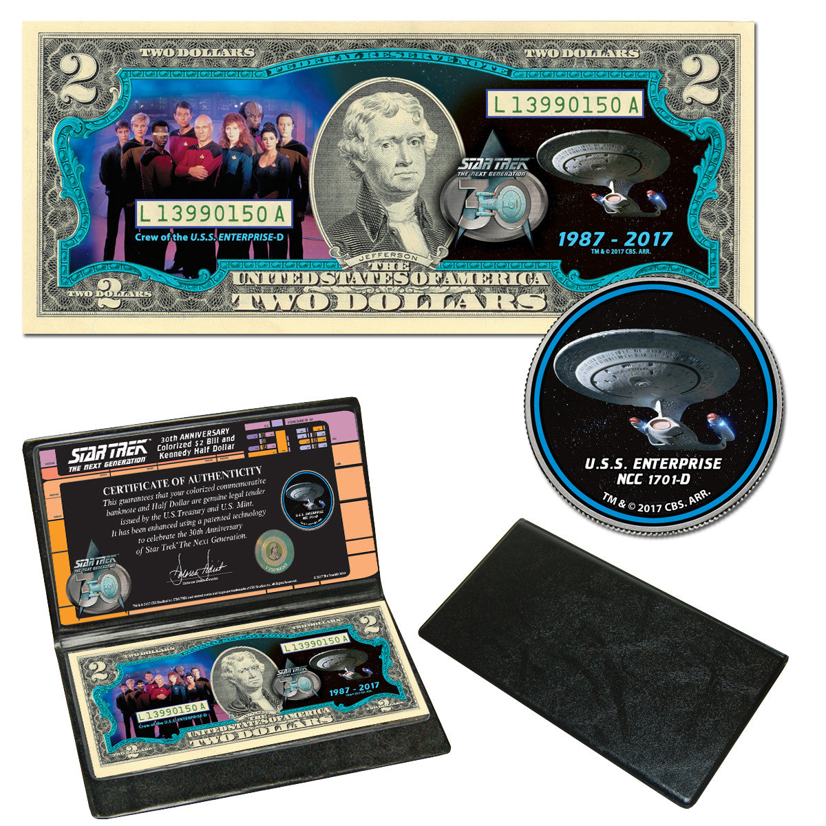 Star Trek: The Next Generation Coin & Currency Collection - The Crew