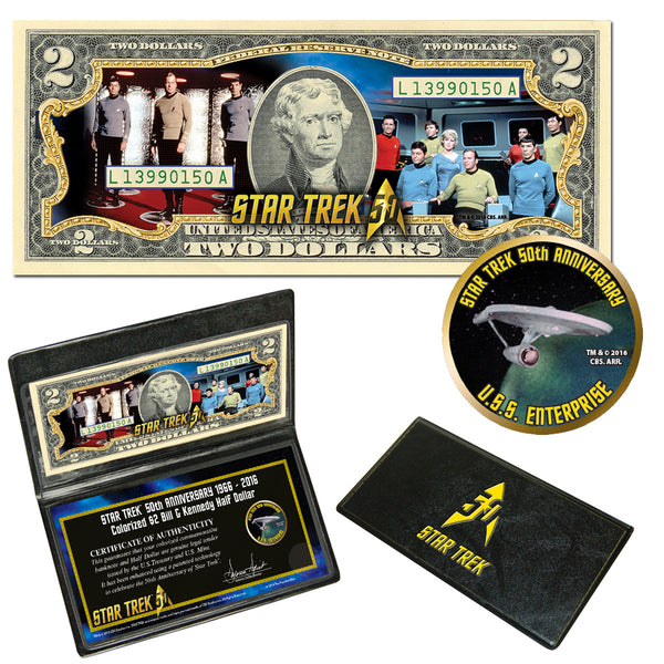 """Star Trek"" Crew & Enterprise Coin & Currency Collection"