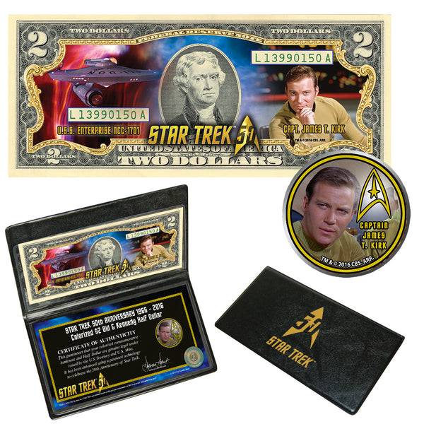 """Star Trek"" Capt. Kirk Coin & Currency Collection"