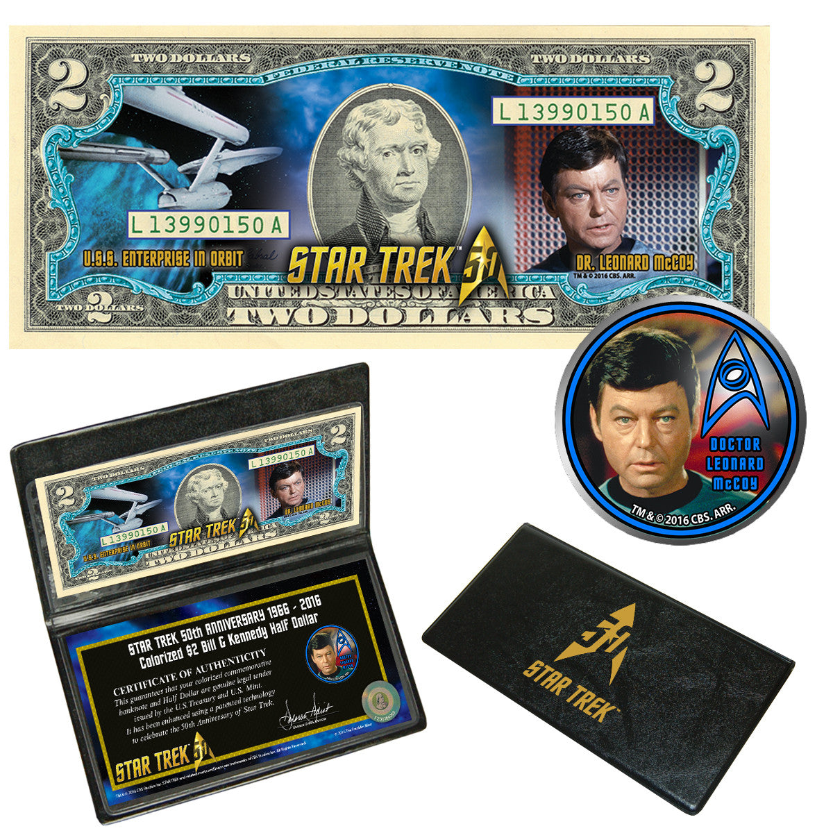 """Star Trek"" McCoy Coin & Currency Collection"