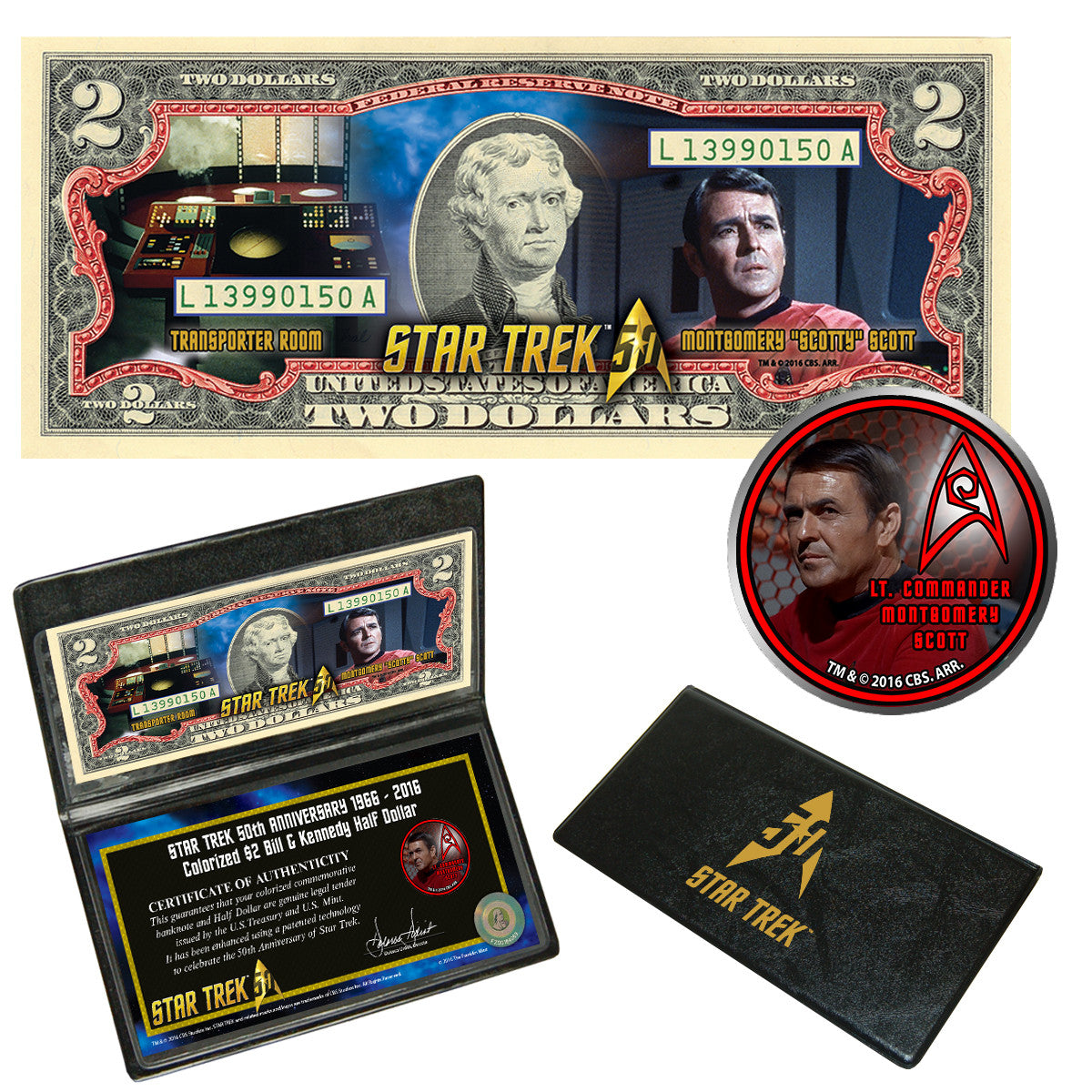 """Star Trek"" Scotty Coin & Currency Collection"
