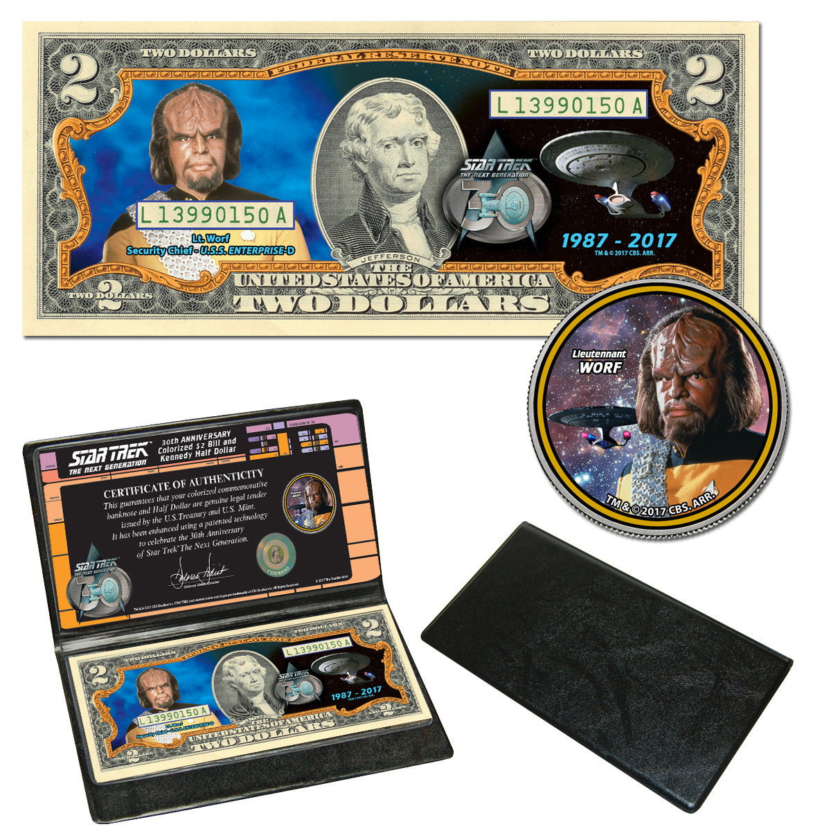 Star Trek: The Next Generation Coin & Currency Collection - Worf
