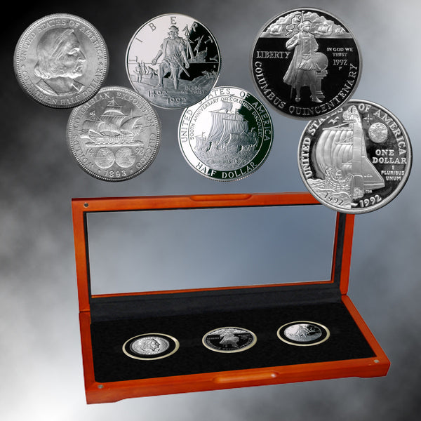 Columbus Commemorative Coin Collection Franklin Mint Coins