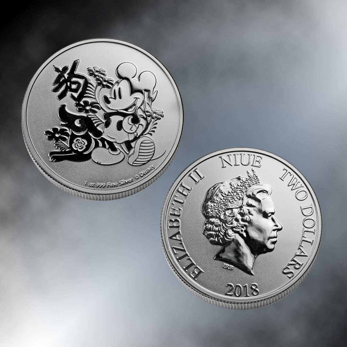 2018 -  Disney® Year of the Dog Niue Silver Coin