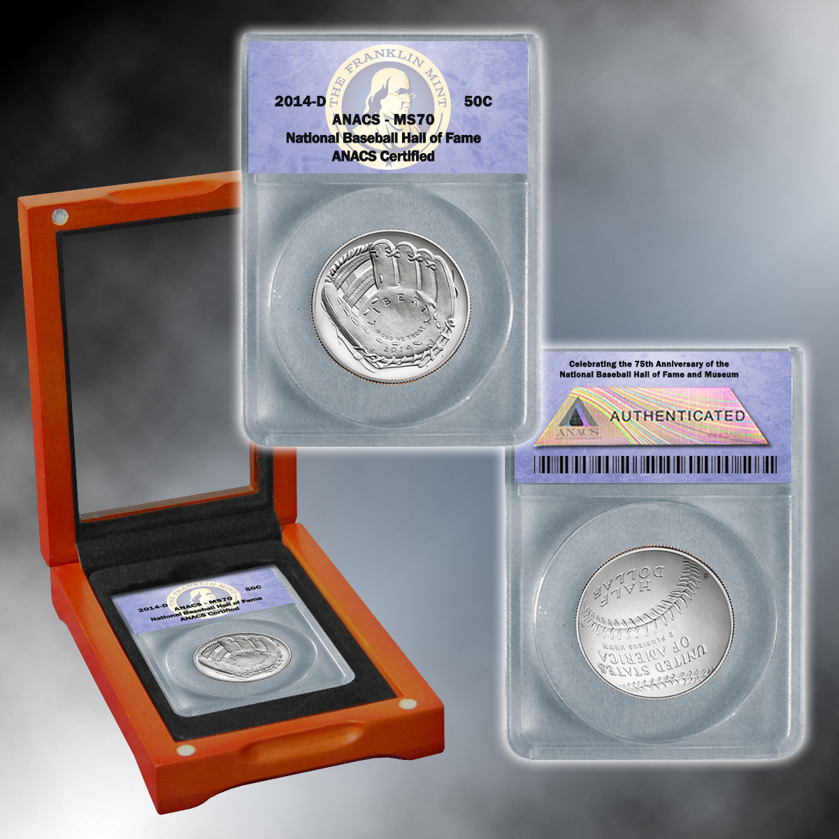 2014 MS70 Baseball Half Dollar