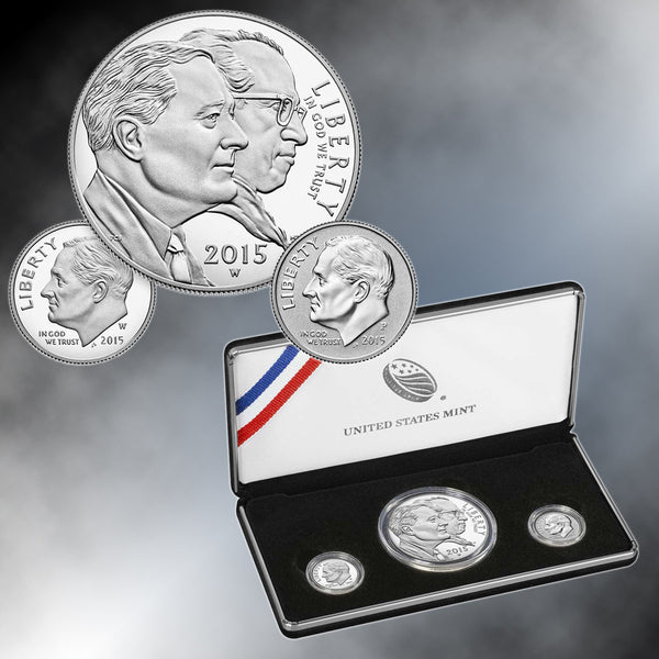 2015 March of Dimes Special 3 Piece Silver Set