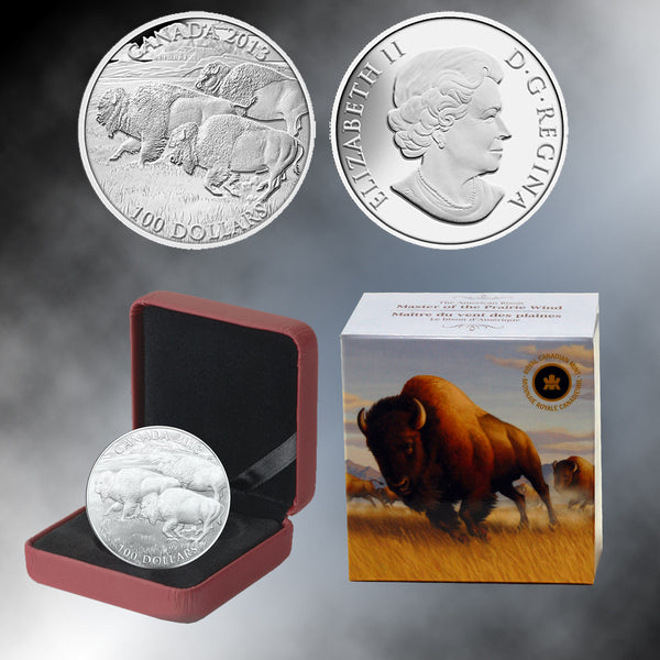 2013 Canada $100 Bison