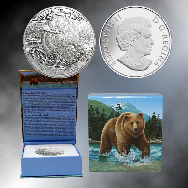 2014 Canada $100 Grizzly