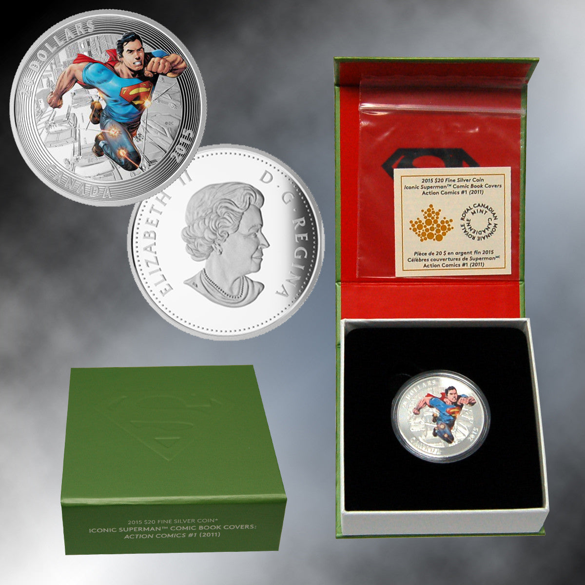 2015 Canada $20 Silver Superman (Action Comics) Proof (choice)