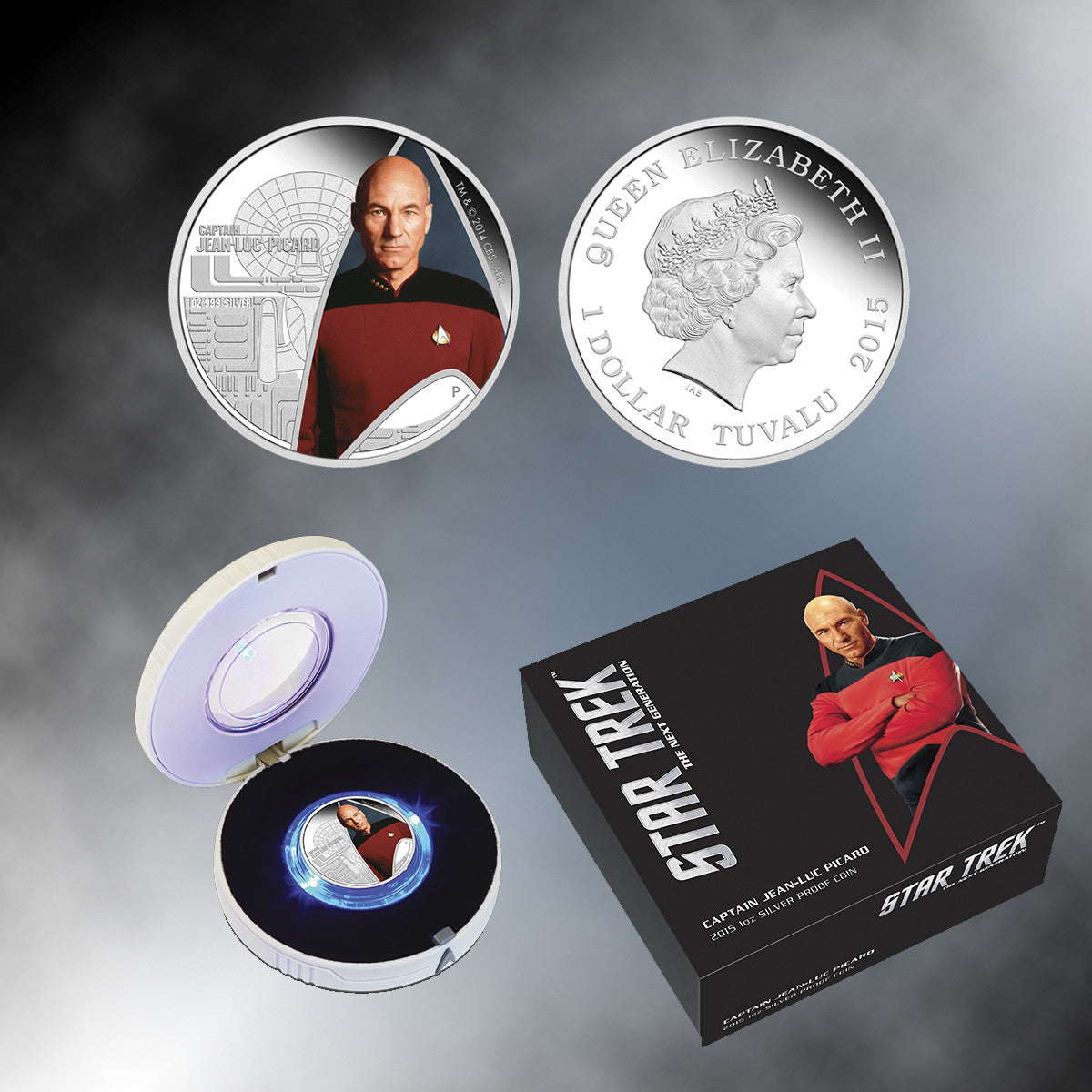 2015 Star Trek: The Next Generation – Captain Jean-Luc Picard 1oz Silver Proof Coin