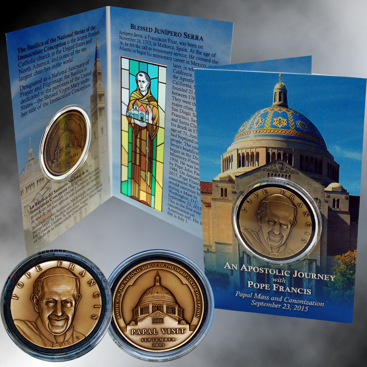 2015 Papal US Visit Bronze Medallion