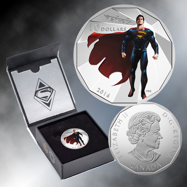 2016 $10 Silver Batman V. Superman: Dawn Of Justice (TM) Superman Coin