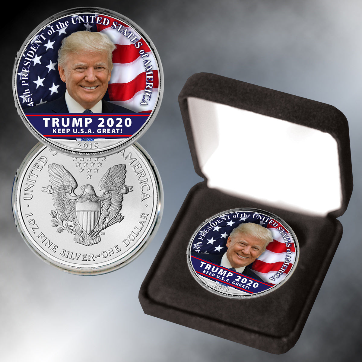 Donald Trump 2020 Silver Eagle