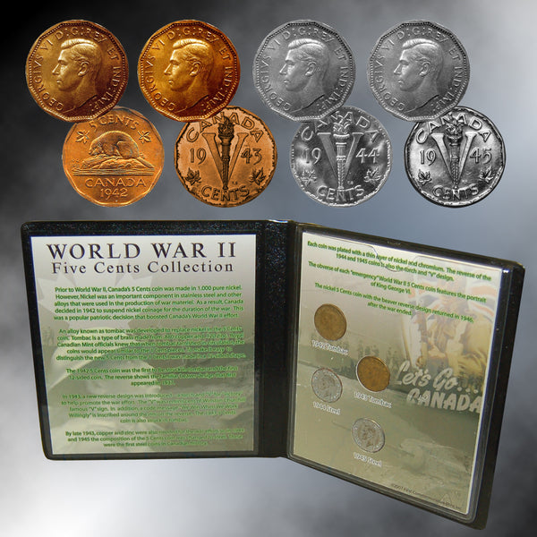 Canada World War II Five Cents Collection