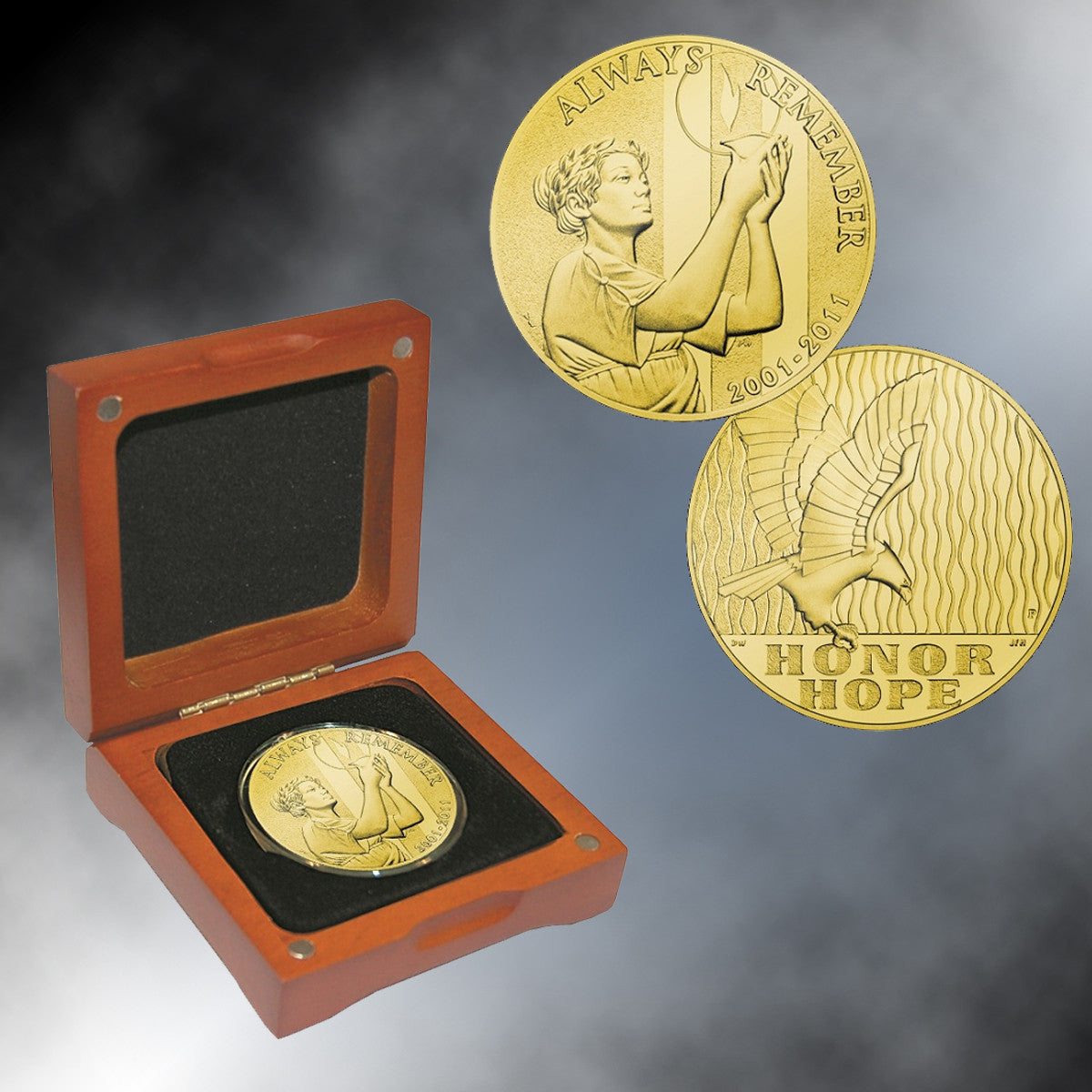 9/11 Silver Proof National Medal Gold Layered