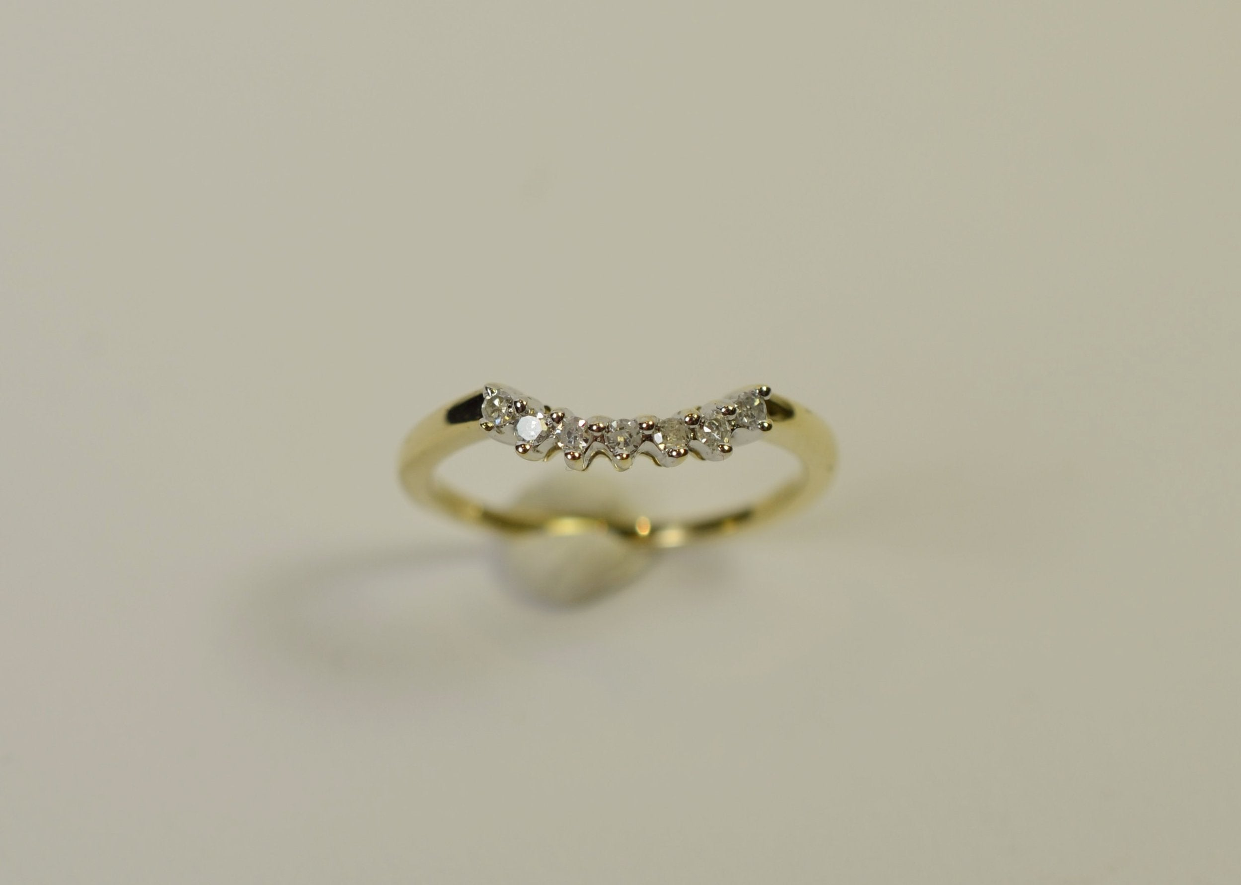 rose style in prongs cut wedding eternity band rounded product gold with brilliant diamond half
