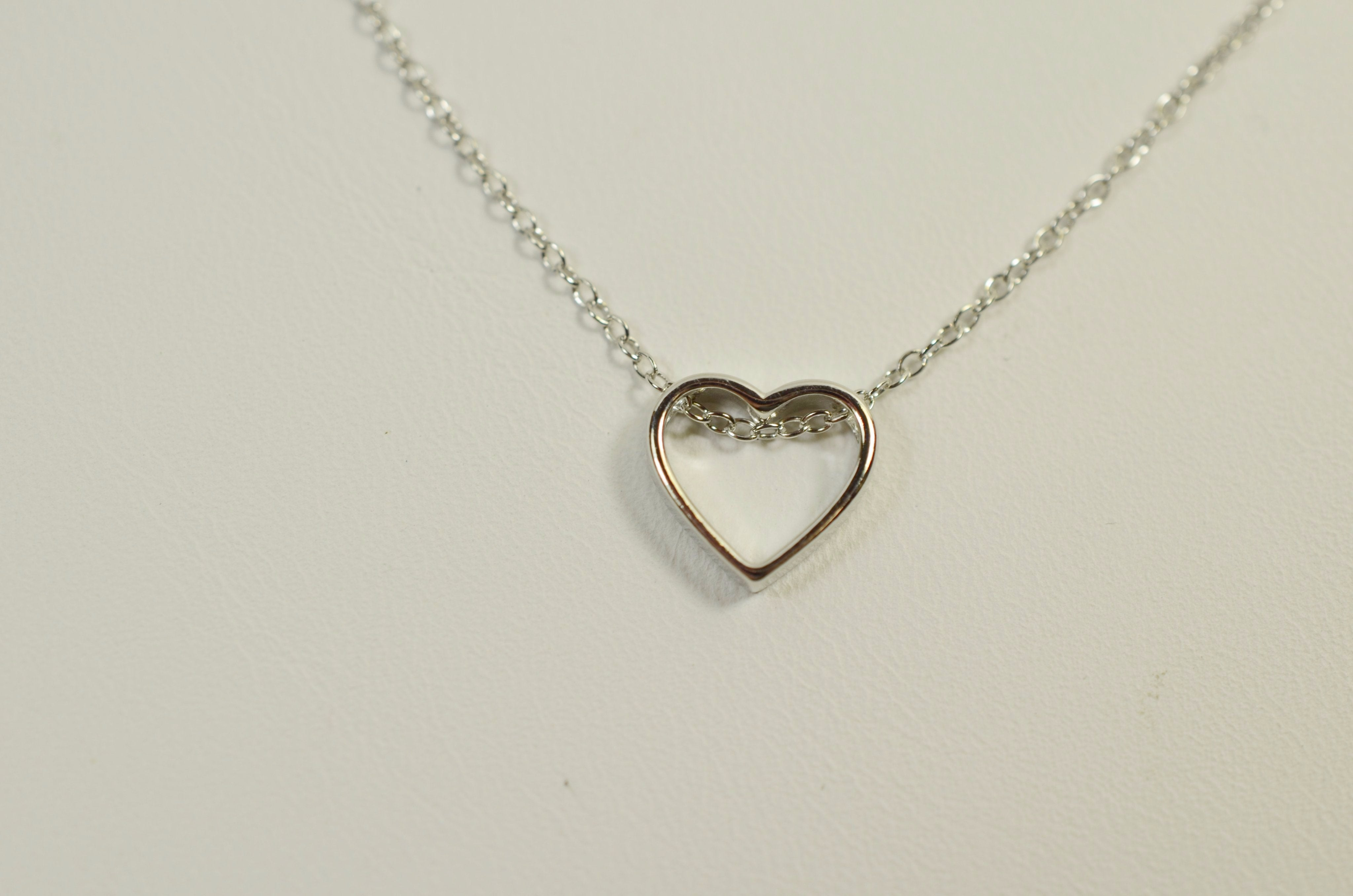 necklace ebay and main topaz multi heart white is loading silver image amour itm open