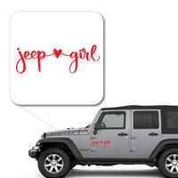 Girl Loves Jeep Decal Sticker for Car Window, Laptop and More. # 1044