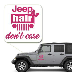Jeep Hair Dont Care Sticker for Car Window, Laptop and More. # 1045