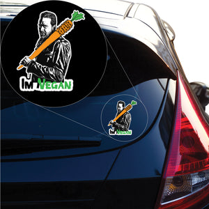 Im Vegan Negan Walking Dead ispired Decal Sticker for Car Window, Laptop and More. # 1146