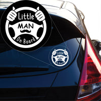 Little Man on Board Decal Sticker for Car Window, Laptop and More # 1001