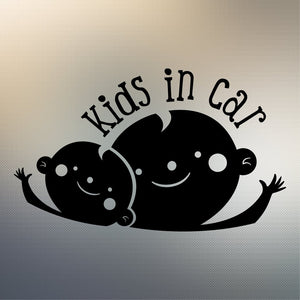 Kids in Car Decal Sticker for Car Window, Laptop and More # 993