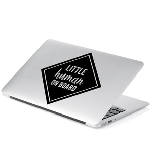 Little Human on Board Decal Sticker for Car Window, Laptop and More # 1002