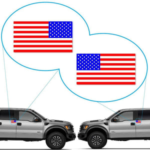 American Flag Decal Sticker for Car Window, Laptop and More. Set of 2 (left and right) # bn3