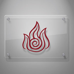 Last Airbender Fire Decal Sticker for Car Window, Laptop and More # 936