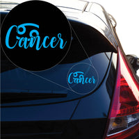 Cancer Decal Sticker for Car Window, Laptop and More. # 1169
