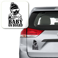 Cool Baby on Board Decal Sticker for Car Window, Laptop and More # 1006