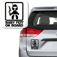 Star Wars Baby Fett on Board Vinyl Decal Sticker # 882