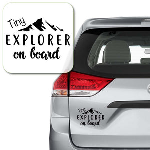 Tiny Explorer on Board Decal Sticker for Car Window, Laptop and More # 995