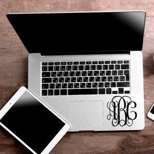 Vine Monogram Decal Sticker for Car Window, Laptop and More. # 1157