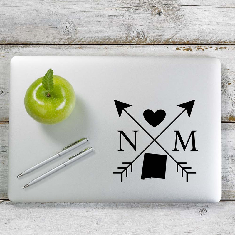 New Mexico Love Cross Arrow State NM Decal Sticker for Car Window, Laptop and More. # 1097