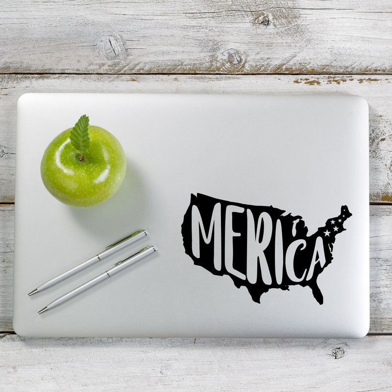 Merica American Flag USA Decal Sticker for Car Window, Laptop and More. # 1124