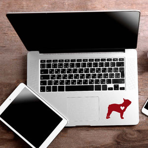 Love French Bulldog Decal Sticker for Car Window, Laptop and More. # 1123