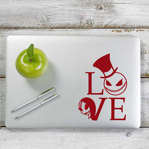 Love jack skellington and Sally Nightmare before Christmas Decal Sticker for Car Window, Laptop and More. # 1120