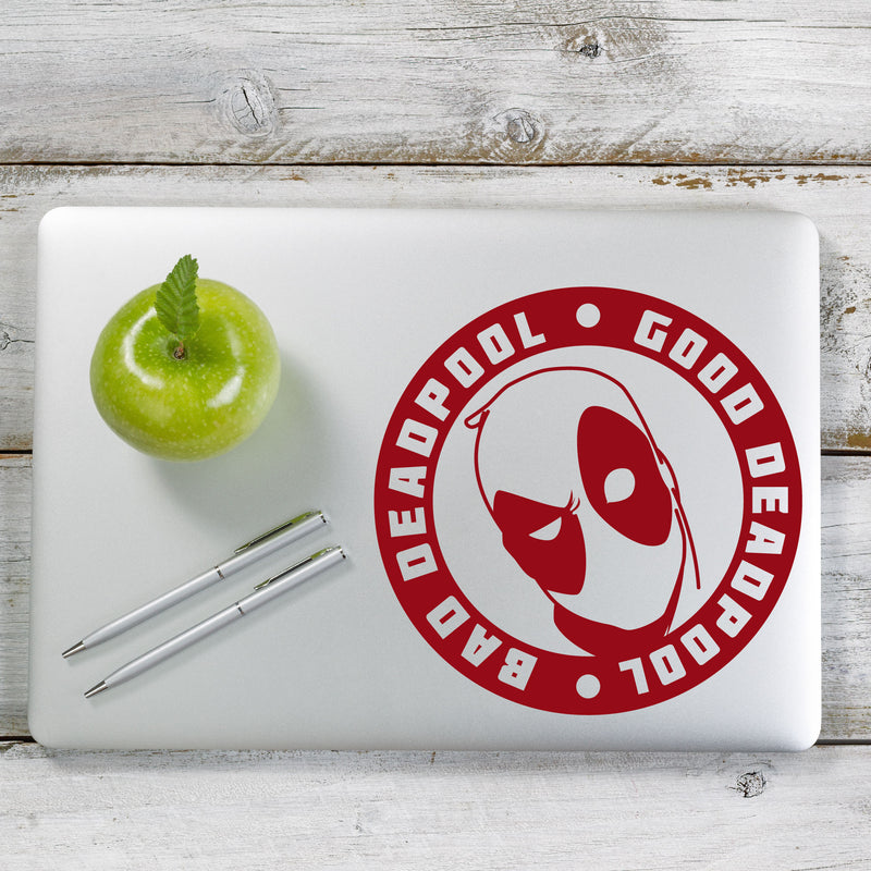 Deadpool Good Bad Decal Sticker for Car Window, Laptop and More. # 1140