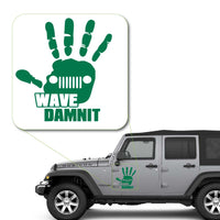 Jeep Wave Dammit Damnit Decal Sticker for Car Window, Laptop and More. # 1046
