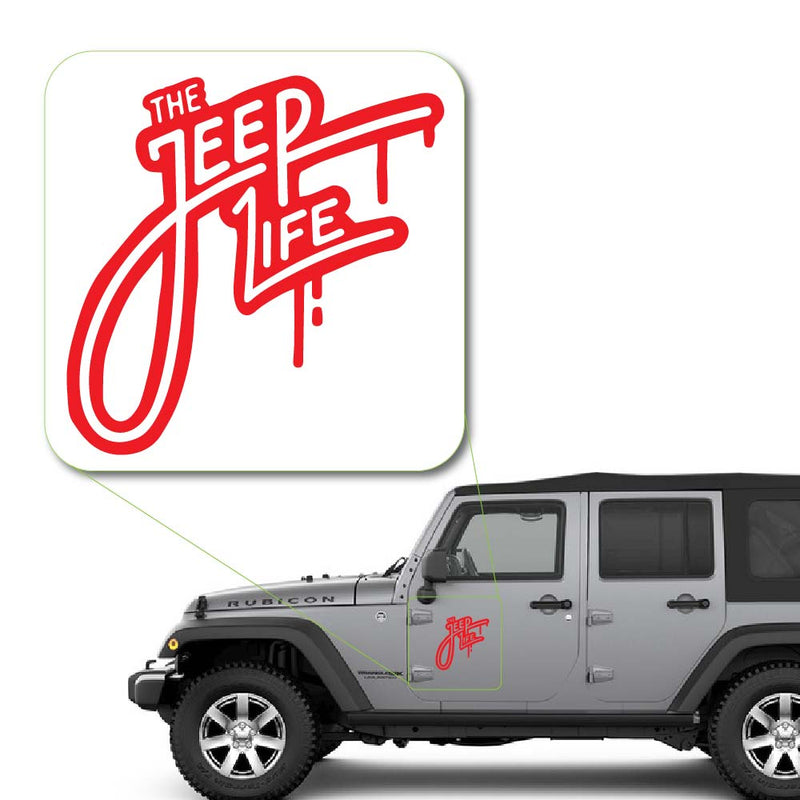 The Jeep Life Decal Sticker for Car Window, Laptop and More. # 1061