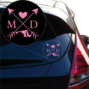 Maryland Love Cross Arrow State MD Decal Sticker for Car Window, Laptop and More. # 1085