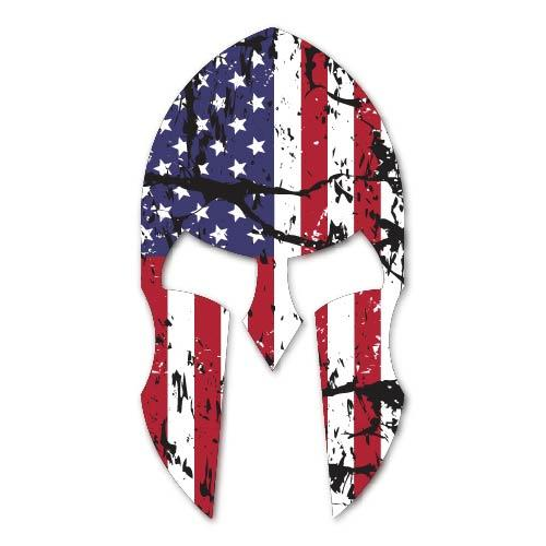 American Spartan Decal Sticker for Car Window, Laptop and More # 951