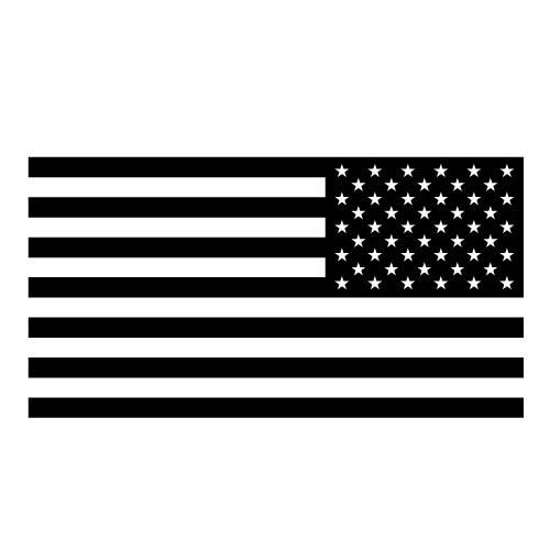 American flag stars to the right Decal Sticker for Car Window, Laptop and More # 957