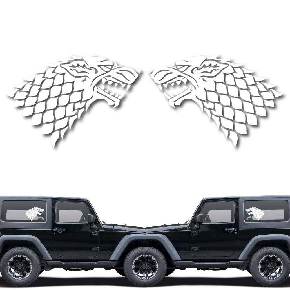 House of Stark Game of Throne Decal Sticker for Car Window, Laptop and More. # 1033